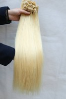 Top Quality Grade 5a Color #613 Brazillian Hair Blond Curly Hair Extension