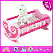 2015 new toy wooden children bed for child,high quality doll wooden baby bed for baby,hot sale kids wooden kids bed W06E010-S