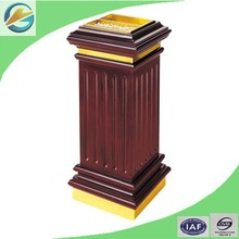 European Style Stainless Steel and Wood Ashtray Bin