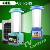 2015 Portable chl882tv rechargeable lanterns for indoor,solar outdoor light with tv, solar lights mini lantern