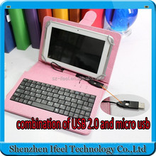 colorful 7 inch universal tablet pc case with keyboard usb tablet keyboard case Android Tablet USB Keyboard