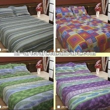 Stock Printed Brushed Microfibre Colorful Patchwork Quilt