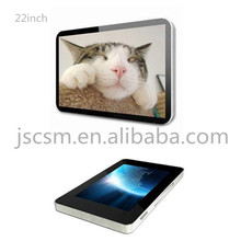 22inch ad player HD high resolution 1600*1200 metal material support multimedia and advertisng display encryption support
