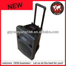 Active speaker with rechargeable battery plastic speaker cabinet