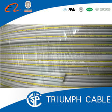 0.5mm 300v / 500v 3core cable 3 pin flat ribbon cable power cable
