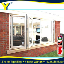 Double tempered glass windows / Aluminium folding,bifolding windows / windows aluminium australia