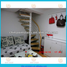 small space spiral stair/indoor spiral stairs/iron steel spiral staircase