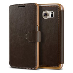 Premium leather flip case with wallet for samsung galaxy S6