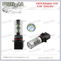 LED rear fog light PSX26W PSX24W P13W H9 H10 H8 H7 H4 45W 750LM led auto fog lamps