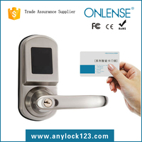 Manufacture RF Card Hotel Lock System for Wood/Steel Door with Multi Language