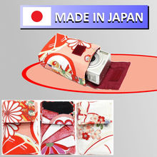 digital camera accessory case bag for mobile phone and camera in japanese traditional pattern design