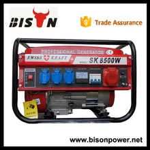 BS8500SK BISON China Taizhou Hot Sell 7kw 7.5kva Kick Start Three Phase New Swiss Kraft Generator with High Quality