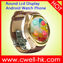 New arrivel Smart W10 Round LCD Display Android 3G Watch Phone whatsapp watch phone