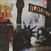 Contemporary Famous city New York Statue of Liberty Oil Painting