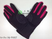 hot sale newest design polyester fleece/spandex full fingers outdoor skiiing gloves