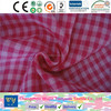 fashion shirt garment yarn dyed cotton 32s pink check quilt double cloth fabric goods from china changzhou