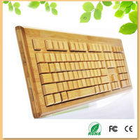Newest design french layout real wood keyboard wireless108 keys