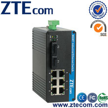 ZTEcom Excellent Power Saving 8 port 10/100M Outdoor Fiber Switch with RoHS