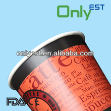 Best selling hot/cold drinks colored double wall insulated hot paper cups