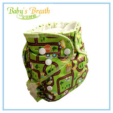 2015 Modern European Style Printed Bamboo Non-diaposable baby Adult Cloth Diaper
