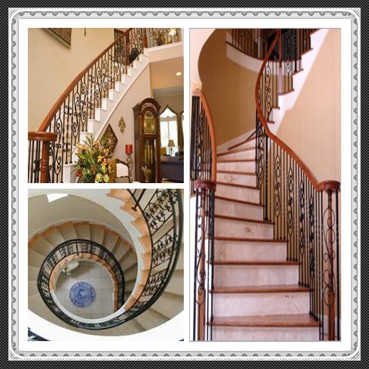 Balustre de rampes d 39 escalier int rieur en fer forg for Photo d escalier d interieur