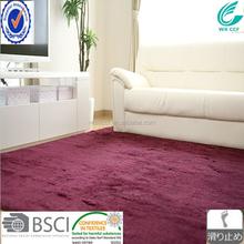 shaggy long pile 100% polyester microfiber flooring carpet
