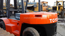 Toyota forklift FD70 with 3 masts capacity from 1.5T 2T 3T 4T 5T 6T 10T to 20t best price japan toyota forklift
