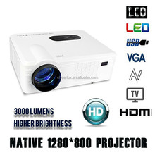 mini portable video projector CL720 cheerlux full hd 1080p connect with mobile phone ipad mini laptop games etc.