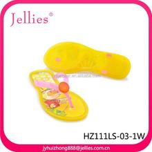 fashion crystal jelly flip flop plastic transparent sandals pvc injection shoes