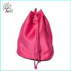 Wholesale branded travel cheap promotional silk stain drawstring bag