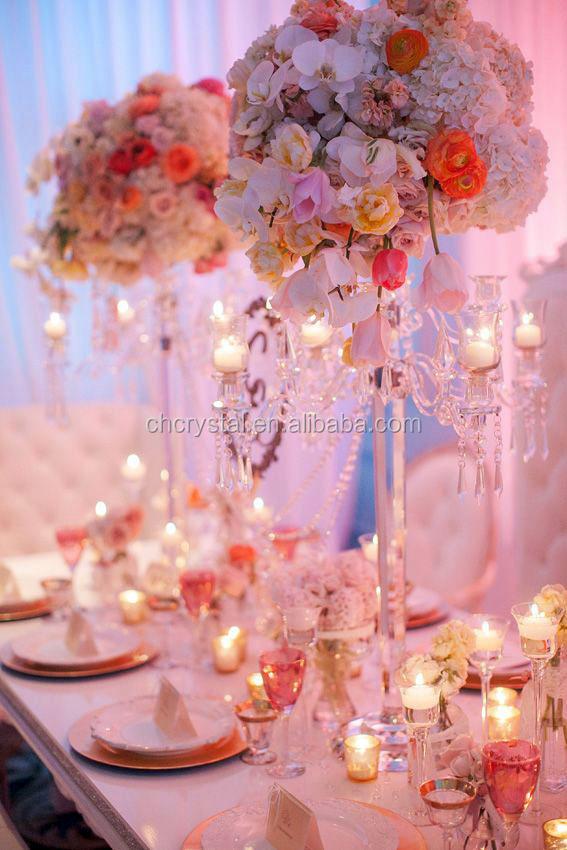 Cristal chandelier centros de mesa para bodas candelabros para la ...