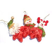 3 pcs/set Christmas Tree Hanging Ornament Must-have Xmas Home Decor Santa Claus+Snowman+Deer