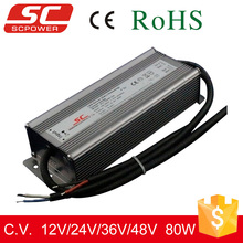 80W IP66 constant voltage DALI dimmable led driver with 3 years warranty