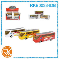 1:24 scale diecast pull back bus model toy