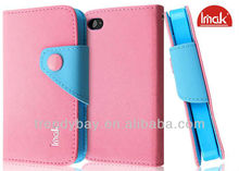 Imak Credit Card Slot Leather Case For iPhone 4