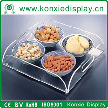 acrylic designer food serving trays
