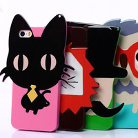 for iphone 5 animal Soft Silicone 3D cute