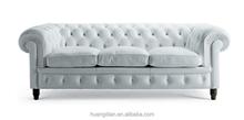 high quality modern desgin chesterfield white leather or pu cover sofa furniture SF6017