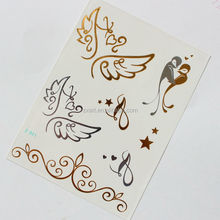 fashional silver jewelry metallic tattoo art design