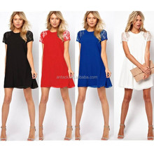 Veri Gude OEM ODM for women's chiffion dress and lace shoulder