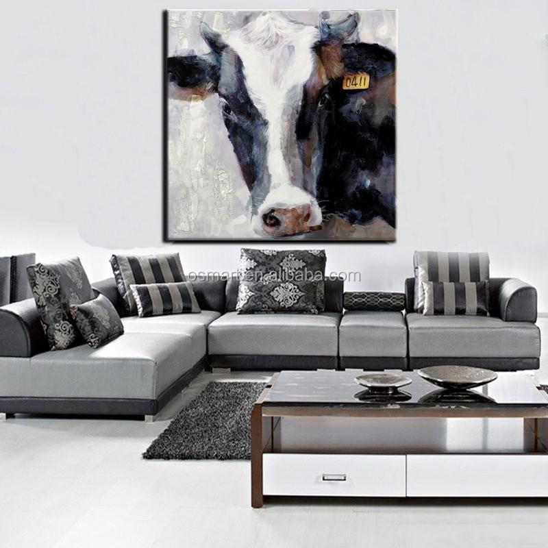 Moderne gespannen dieren canvas schilderij wanddecoratie modern ...