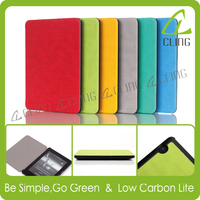 2015 new leather case 6 inch E-reader factory supply for Amazon Kindle Voyage Leather Case Cover