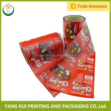 Special Customized Hot Printed food ldpe pet plastic film rolls,2015 top sale plastic film roll