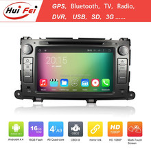1080P Android 4.4.4 System 2 Din Car PC For Toyota Sienna Support Wifi 3G Radio RDS FM/AM Gps Navigation
