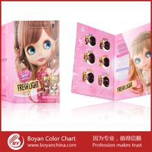 Pantone flip color chart/color design hair color chart/hair color shades 2 folded