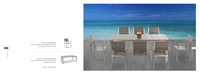 Gemany New style green product home/hotel/Yard plastic wood/WPC 8 peason dining Patio furniture