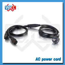 VDE approval Austria 10a 250v power cord with C5 C7 C13 C19 plug