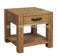 Rustic Wood End Table/ Night Stand with Drawer and Shelf Natural
