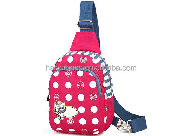 Adolescent extérieure Hot vente mode Desing rose Sport Sling Bag