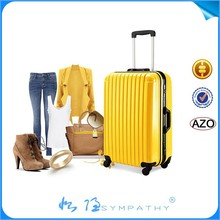 3pcs set hard shell luggage factory price stock abs trolley suitcase